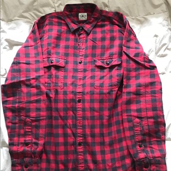 73762b9f J. Crew Shirts | J Crew Buffalo Plaid Flannel Redblack Size L | Poshmark